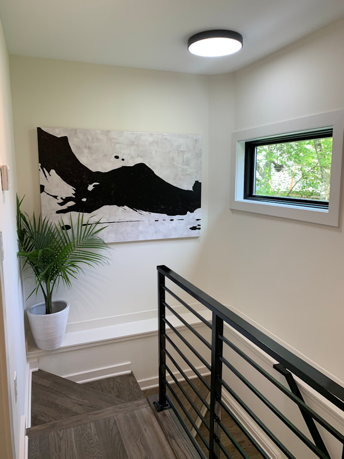 Stair landing in AU - Accessory Unit