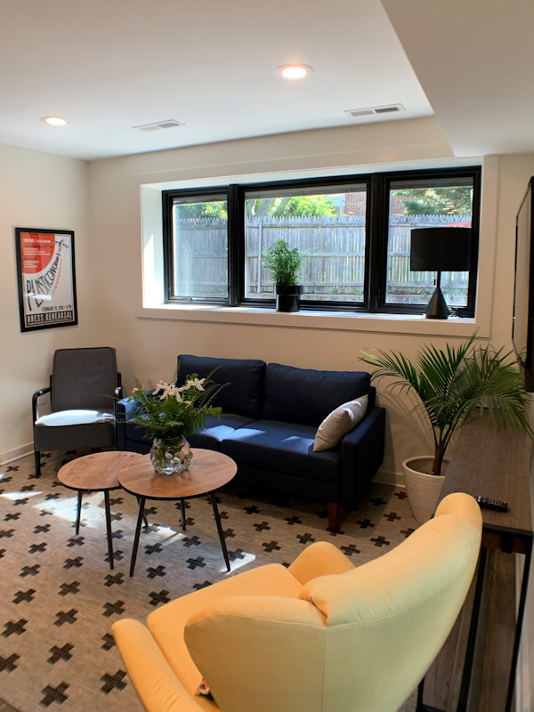 Living room area in Accessory Unit