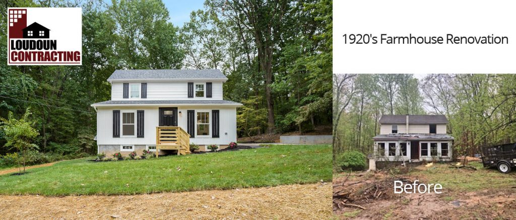Before and After Farmhouse Renovation Leesburg